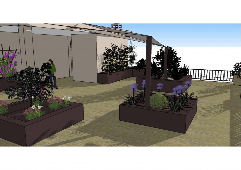 6ème toit terrasse vue zoomée tonnelle 2