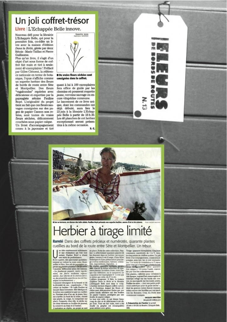 Image herbier presse